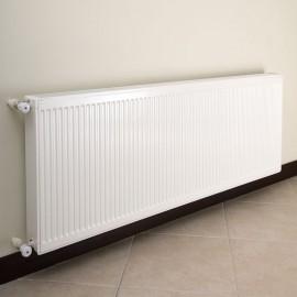 Fixation radiateur sur isolant