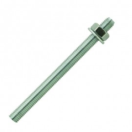 Threaded bar - zinc plated