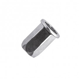 blind rivet nut - Hexagon body - steel zinc plated - cylindrical head