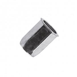 Écrou hexagonal - acier zingué - tête réduite 90°