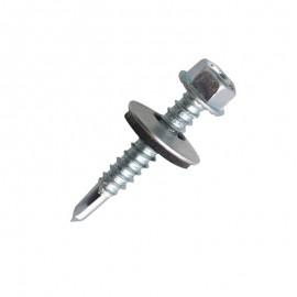 bright zinc-plated steel, hexagonal-headed,  waterproof EPDM washer
