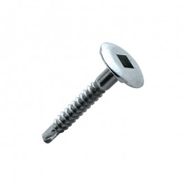 screw, wide round head, bright zinc-plated steel