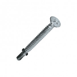 TFAC 120° countersunk head, bright zinc-plated steel