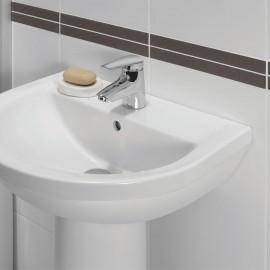 Fixation lavabo matériaux pleins