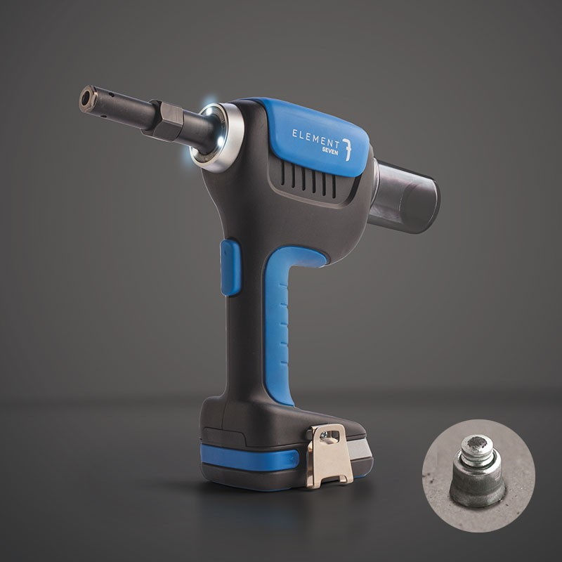 ELEMENT battery tool for structural rivets and locking bolts Ø4,8 to 6,4mm